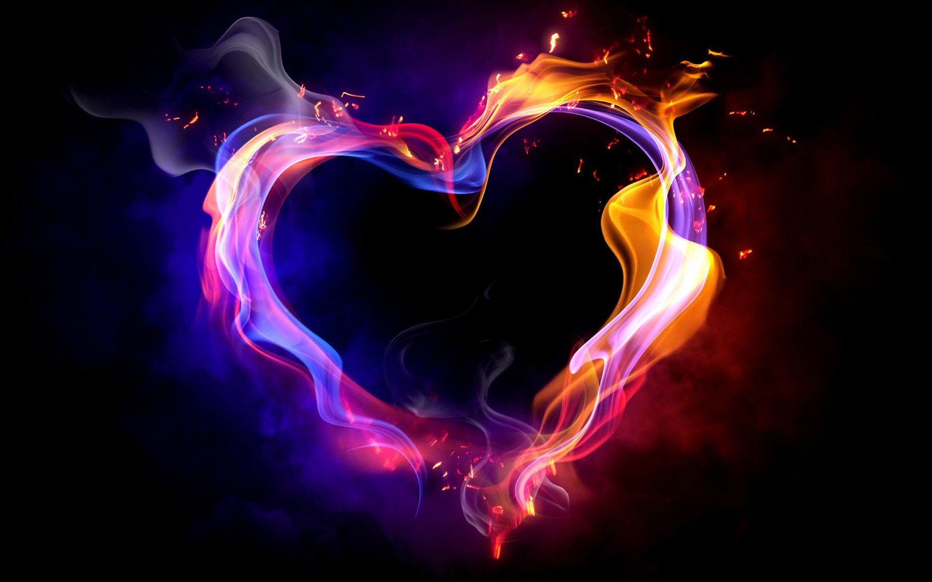 60 Blue Fire Heart Wallpapers   Download at WallpaperBro 1920x1200