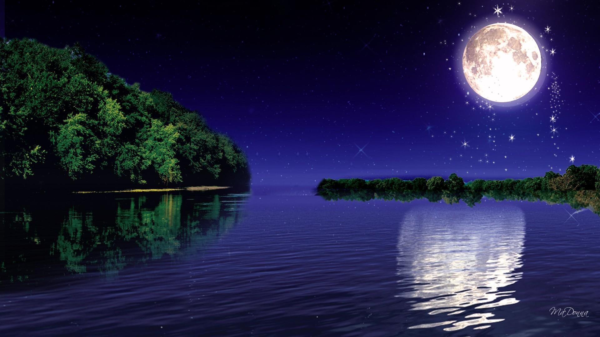 66 moonlight night wallpaper on wallpapersafari - Light night wallpaper ...