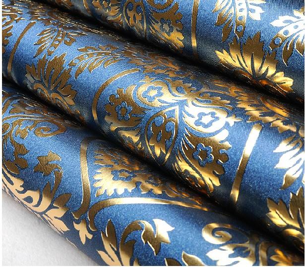 waterproof gold foil PVC wallpaper bedroom 3d royal wallpaper 615x540