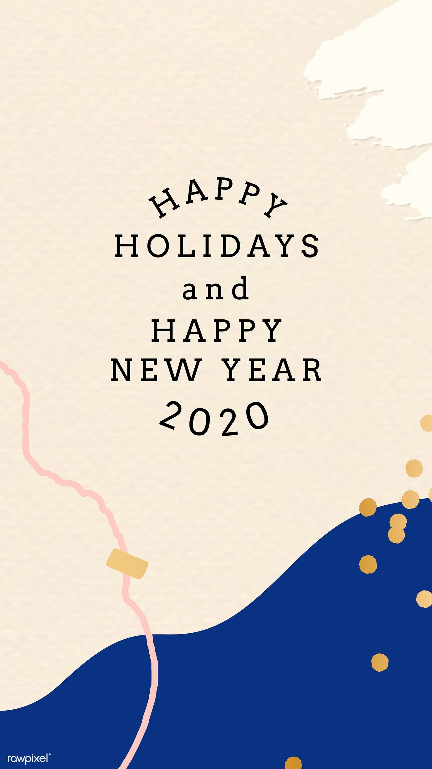 Download premium vector of Happy New Year 2020 Memphis design 1400x2488