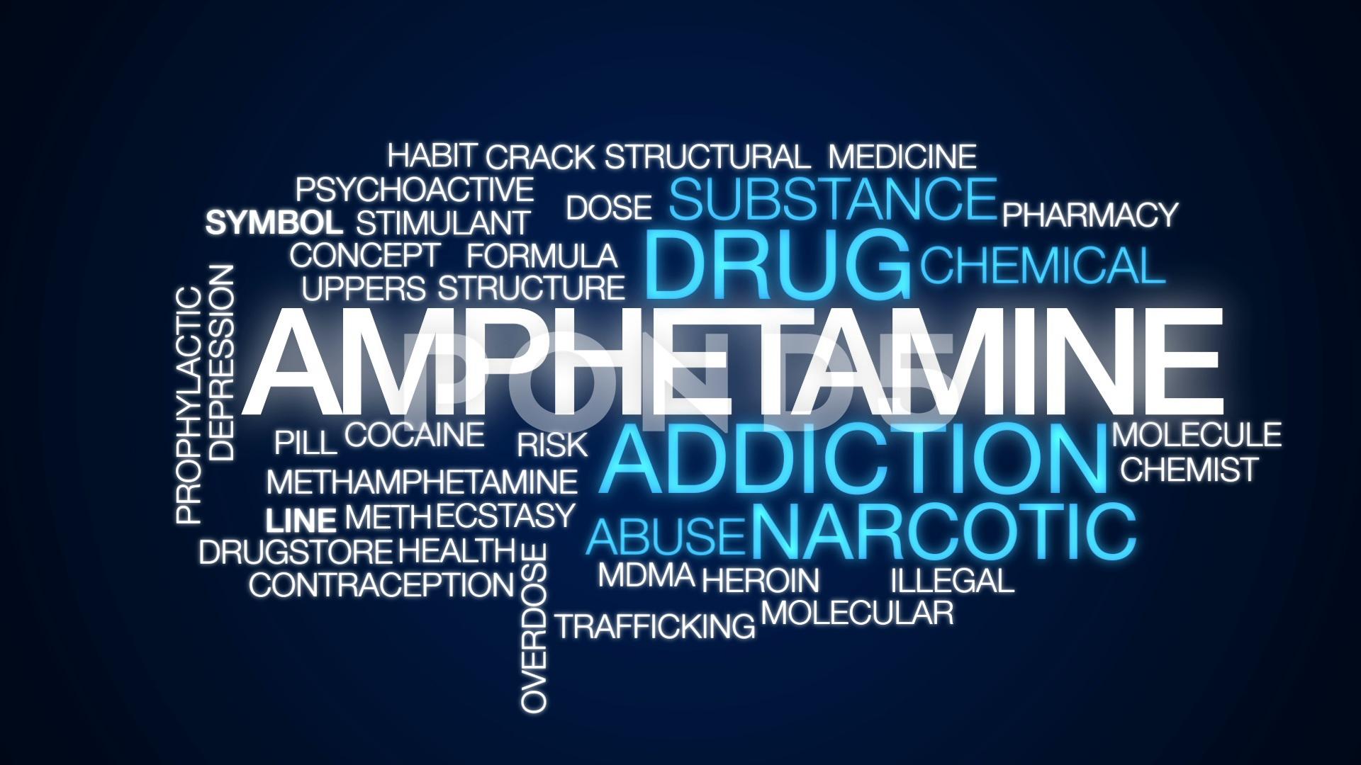 Amphetamine animated word cloud text design animation Hi Res 1920x1080
