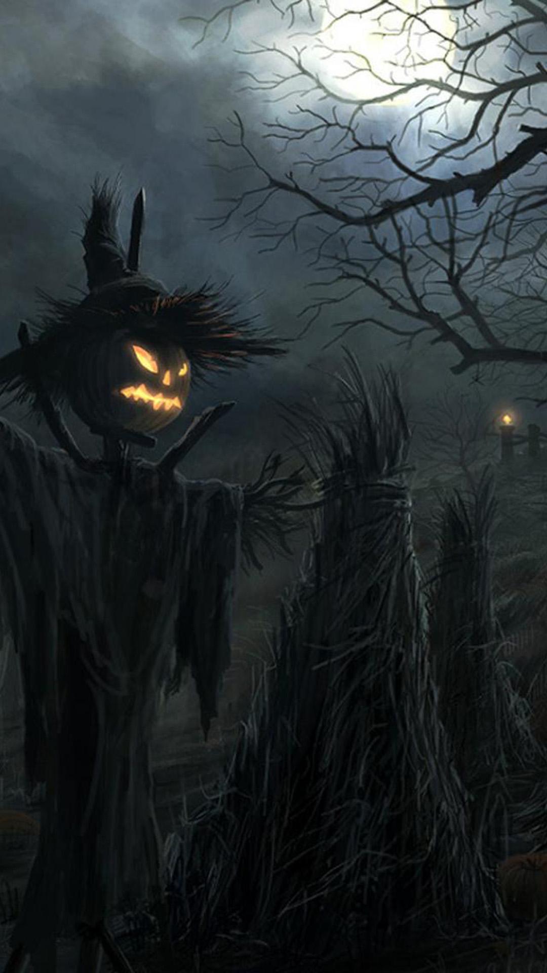 Dark Raven Scarecrow Halloween Galaxy S5 Wallpapers 1080x1920