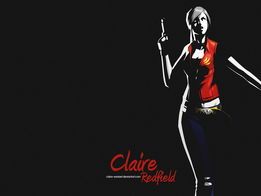 Claire Redfield wallpaper ARTb by Claire Wesker1 900x675