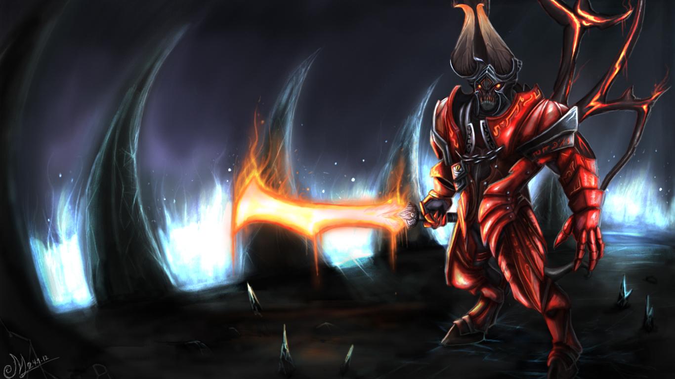 Dota2 wallpaper pc wallpapers gallery tactical gaming - Doom Bringer Lucifer Dota 2 Game Hd Wallpaper Image Picture