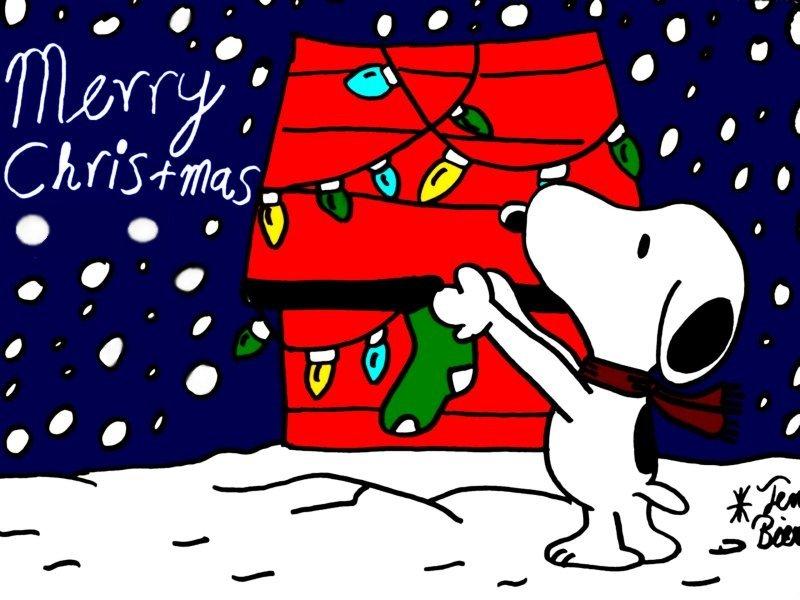 Snoopy Christmas Backgrounds - WallpaperSafari