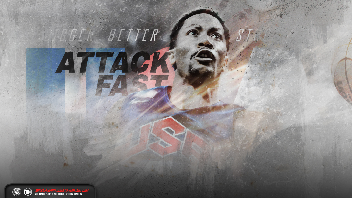Derrick Rose 2015 Derrick Rose Usa Wallpaper 1366x768