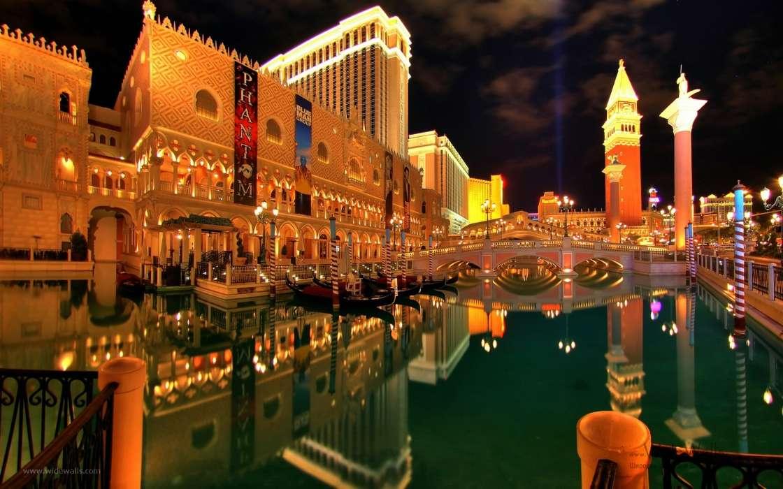 wallpaper Landscape Cities Night Architecture Las Vegas for 1120x700