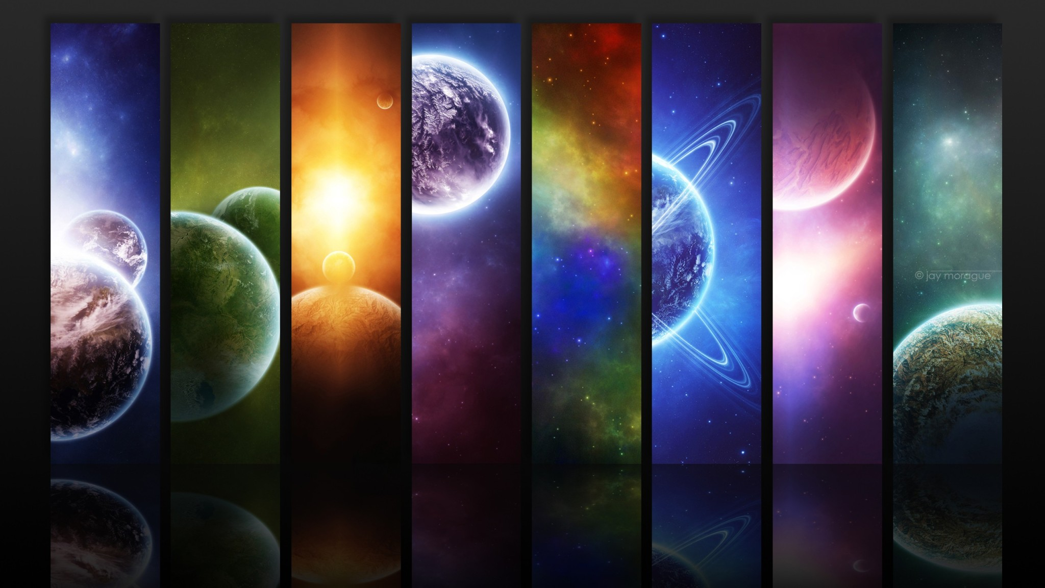 Planets widescreen wallpaper Wide WallpapersNET 2048x1152
