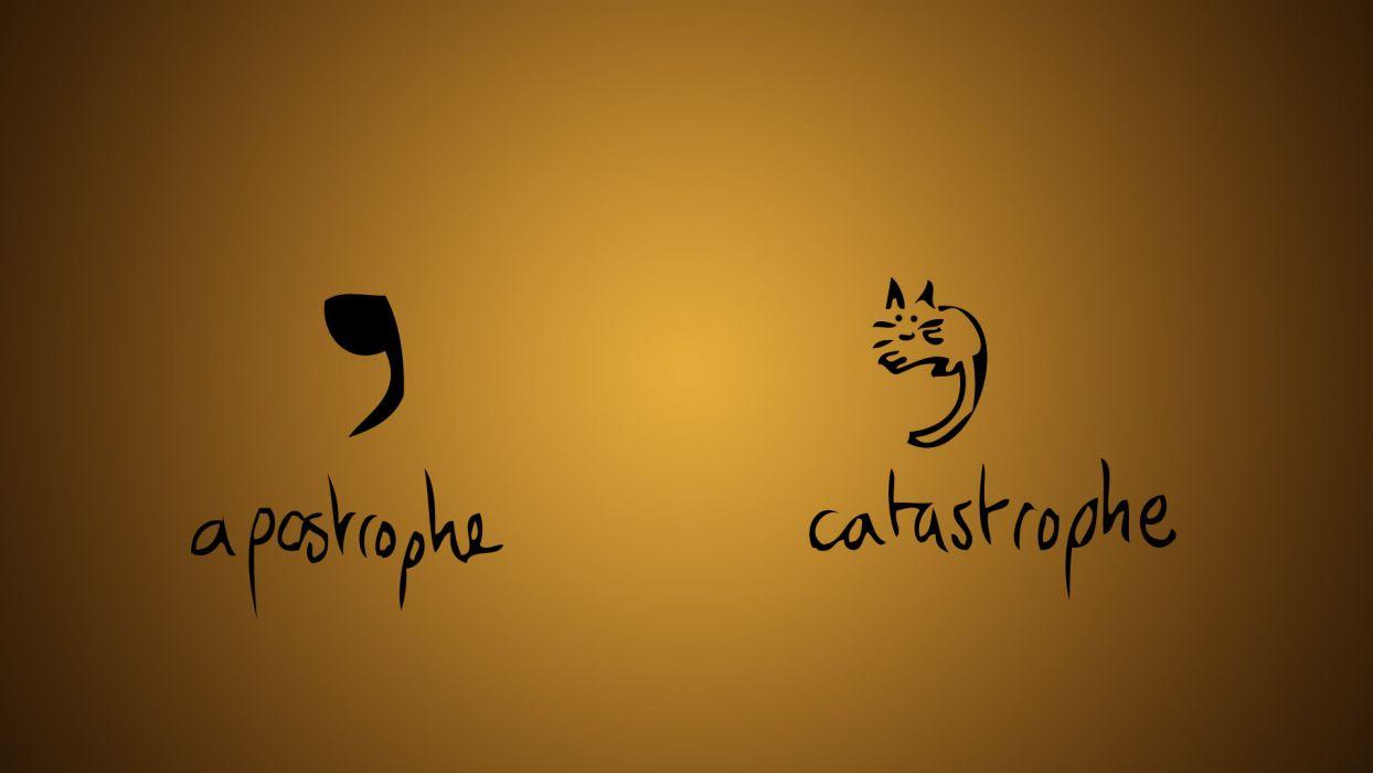 Apostrophe Catastrophe humor text cats wallpaper 1920x1080 1244x700