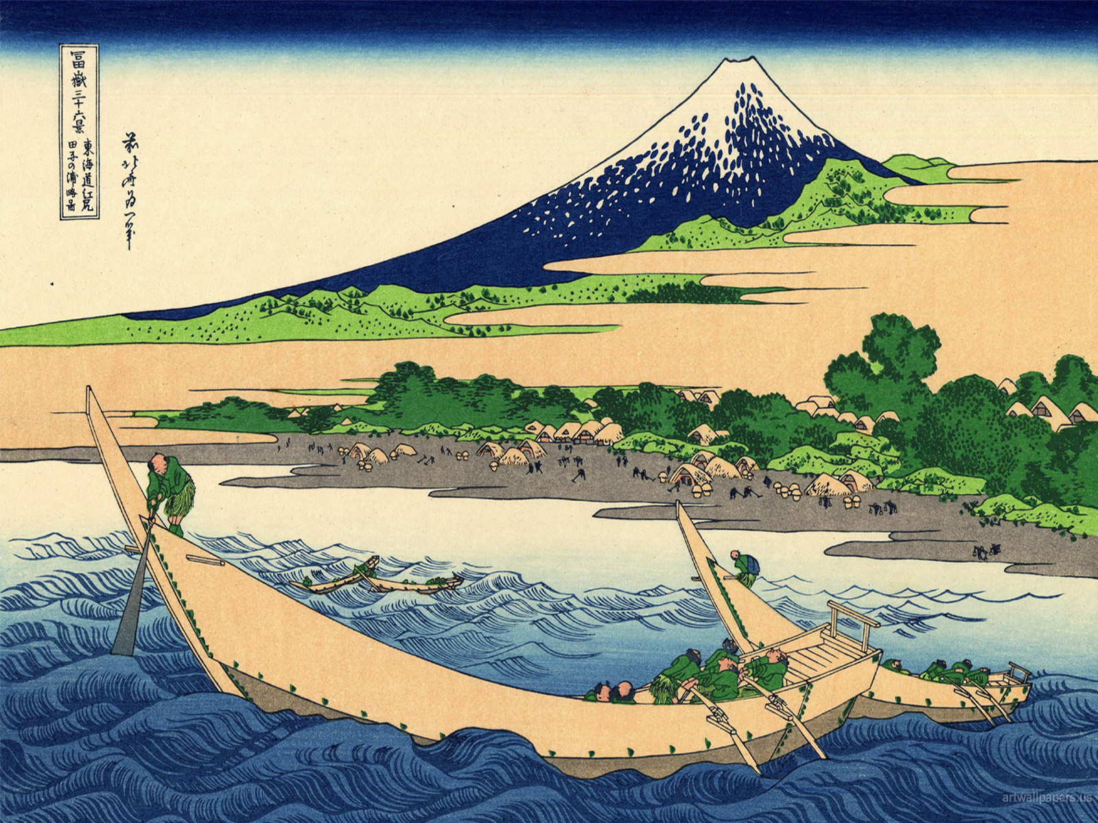 Hokusai Wallpaper The Great Wave at Kanagawa Art Print Wallpapers 1600x1200