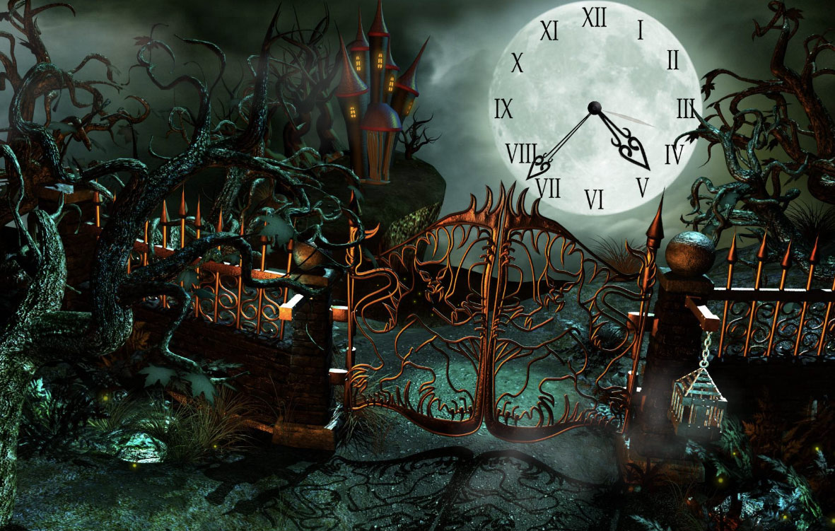 Castle Clock screensaver   Enigmas and puzzles in Fantasy Castle for 1181x751