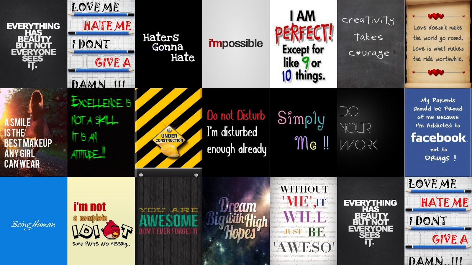 Download iPhone 4S Signs Sayings Wallpapers Pack 1600x900