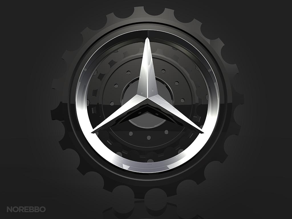 Mercedes Benz Logo Inside Gears – Norebbo