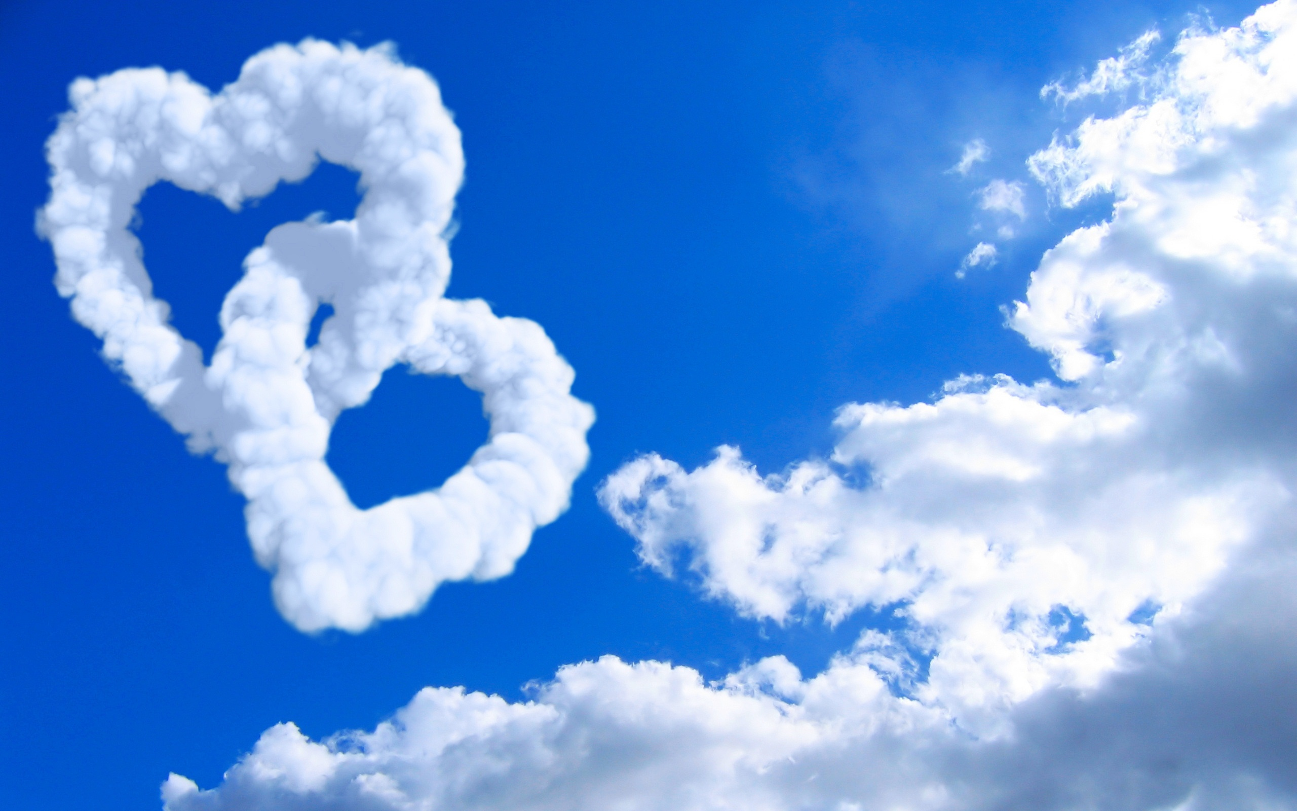 wallpapers love wallpapers hearts in clouds wallpapers hearts in 2560x1600