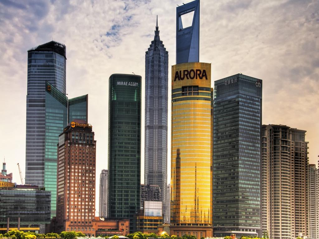 Shanghai Skyline Wallpaper PicsWallpapercom 1024x768