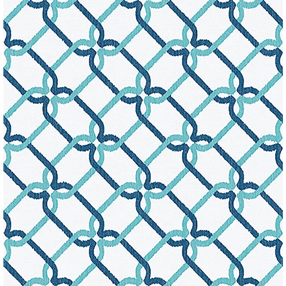 A Street Palladian Turquoise Links Wallpaper Sample 2702 22721SAM 1000x1000
