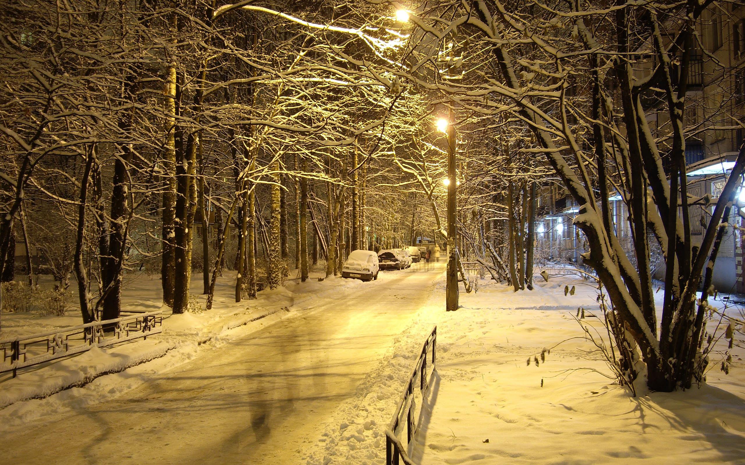 Beautiful Winter Night Places Hq Wallpapers 18 68338 HD Wallpaper 2560x1600