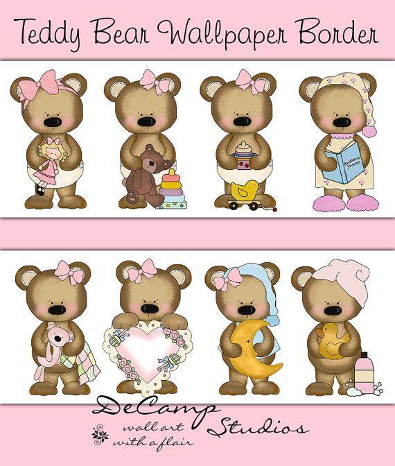 Teddy Bear Wallpaper Border Teddy Bear Wallpaper Border 570x672