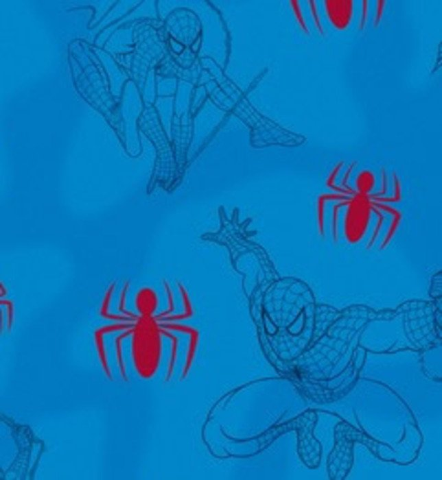 Spiderman Bedroom Wallpaper with a blue background 644x700