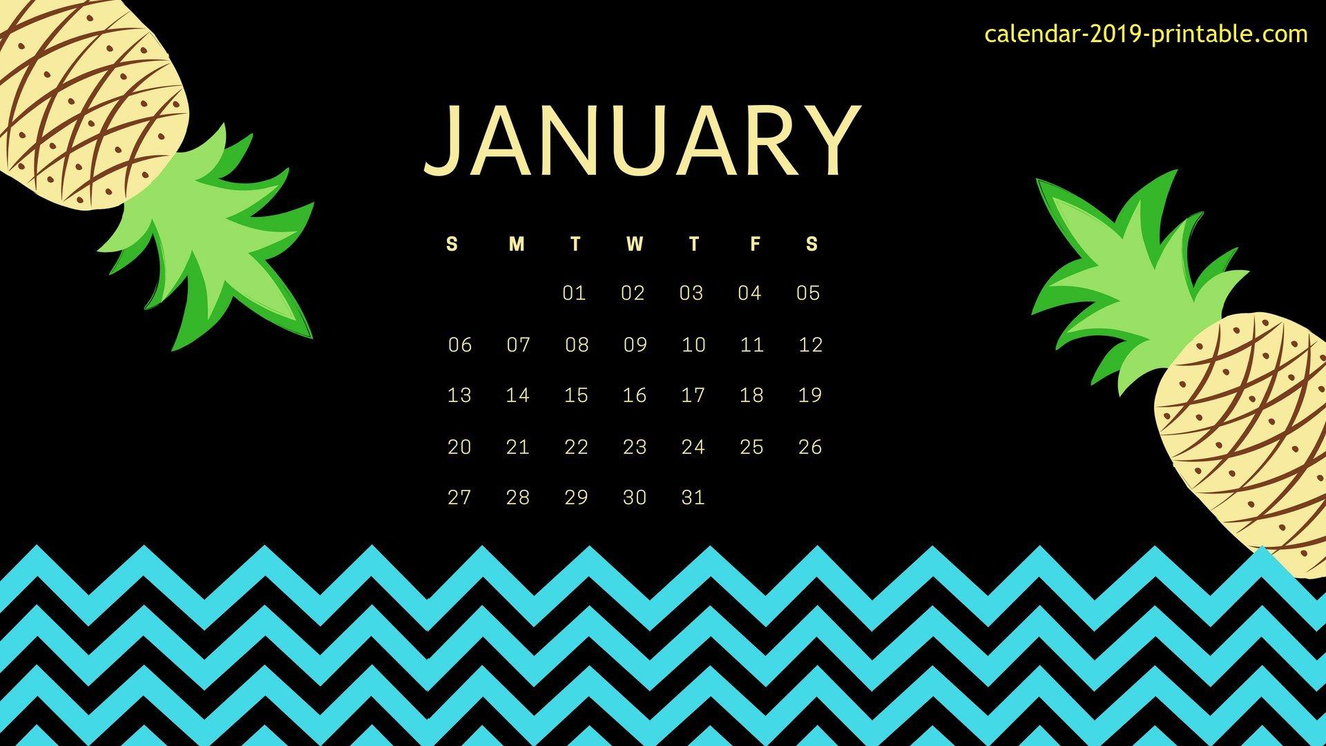 January 2019 Calendar Desktop Wallpapers Calendar 2019 1920x1080