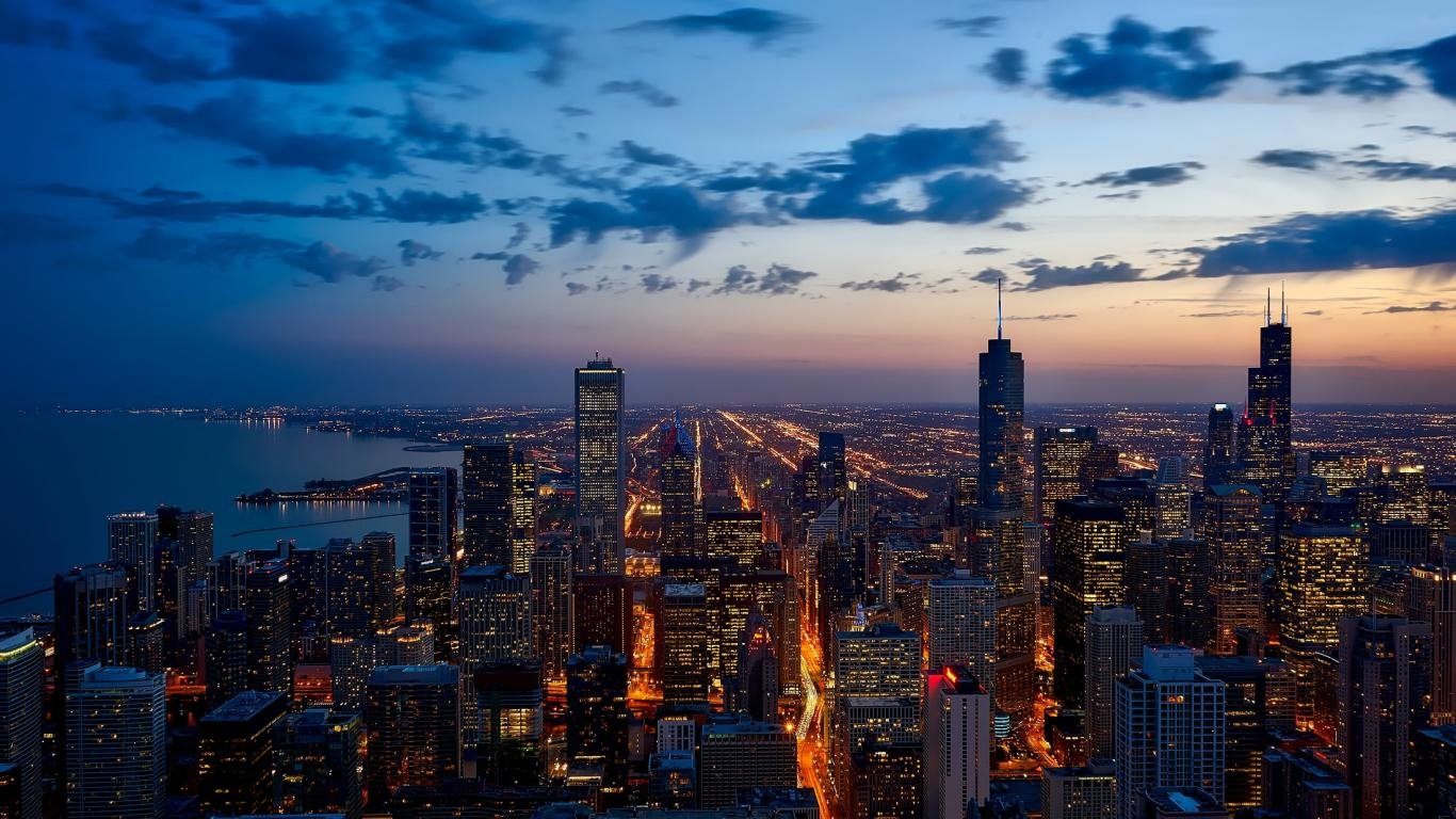 Download laptop Chicago desktop background ID494032 for 1366x768