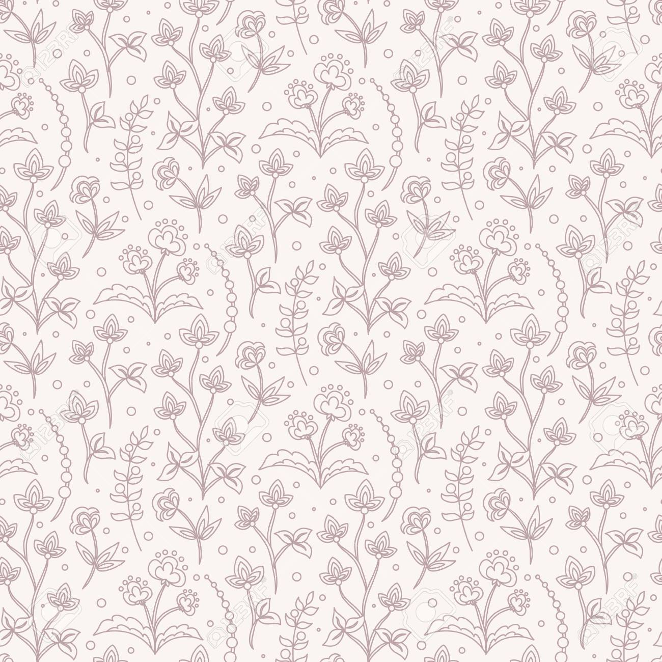Jacobean Floral Illustration Meadow Flowers Background Two 1300x1300