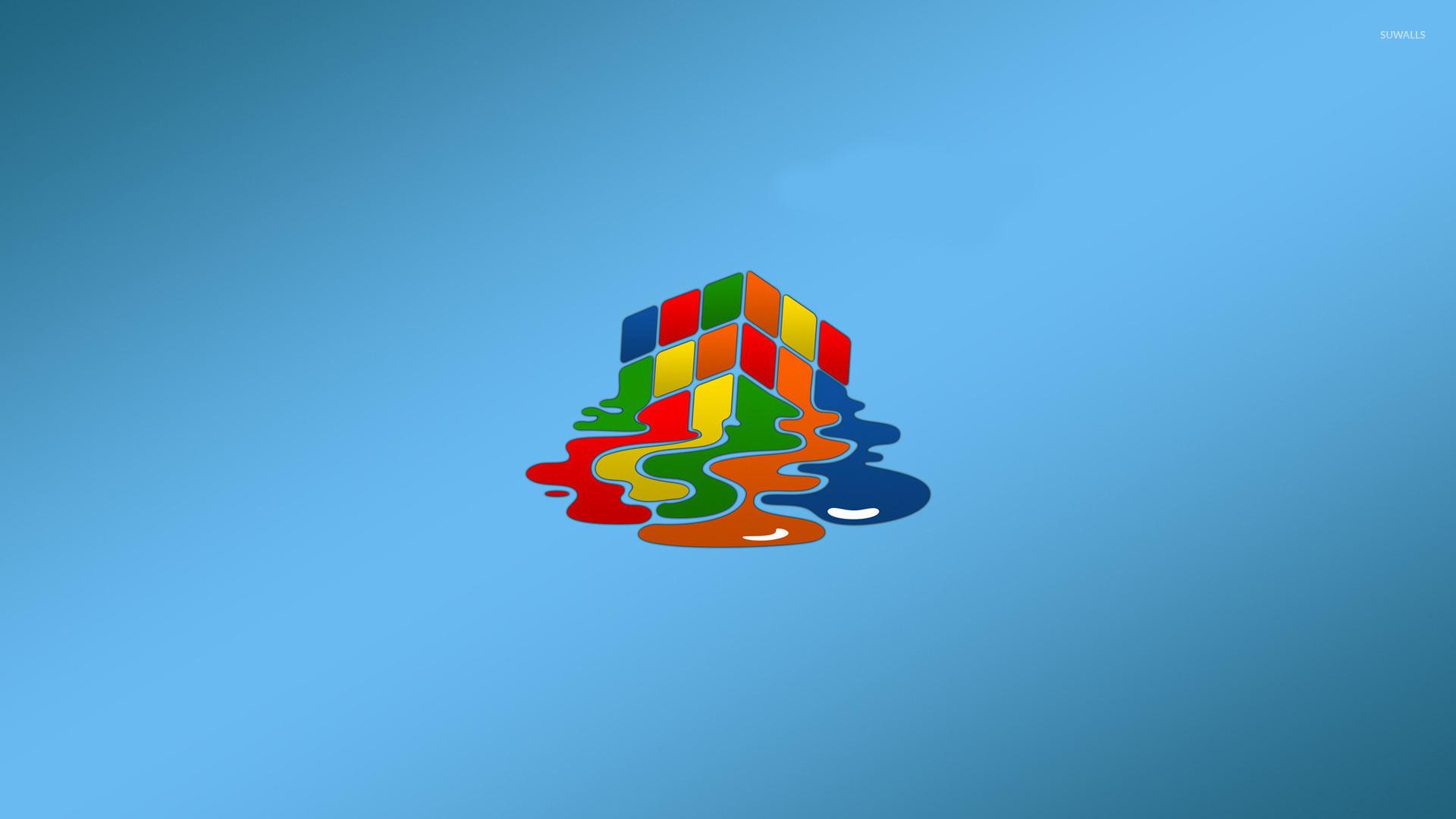 Melting Rubiks cube wallpaper   Minimalistic wallpapers   18070 1920x1080