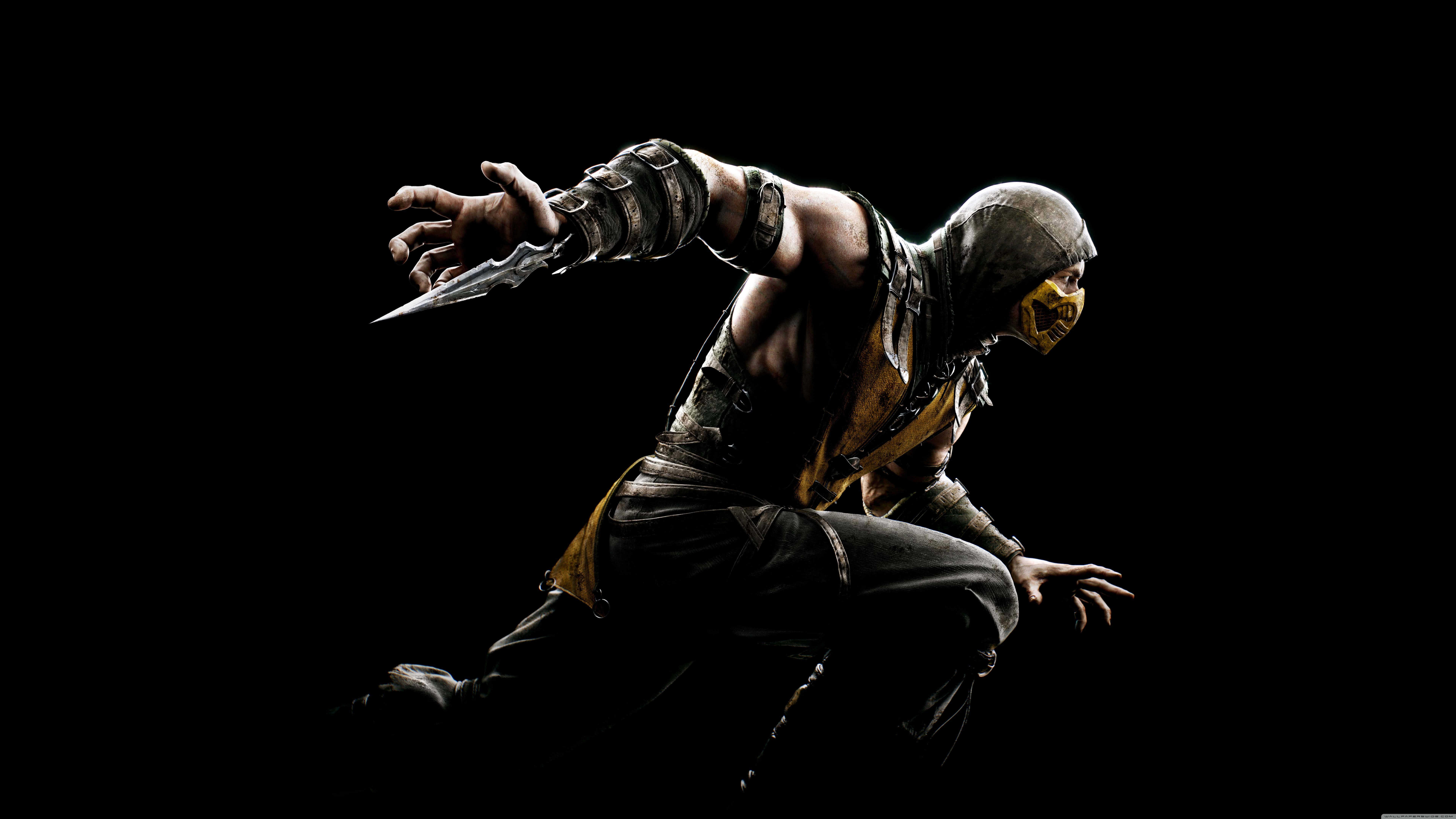 Mortal Kombat X Scorpion UHD 8K Wallpaper Pixelz 7680x4320