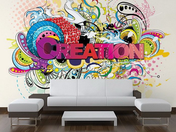 Graffiti wallpaper for room wallpapersafari for Creation mural kids
