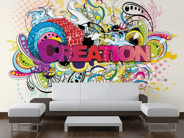 Graffiti wallpaper for room wallpapersafari for Mural art designs for bedroom