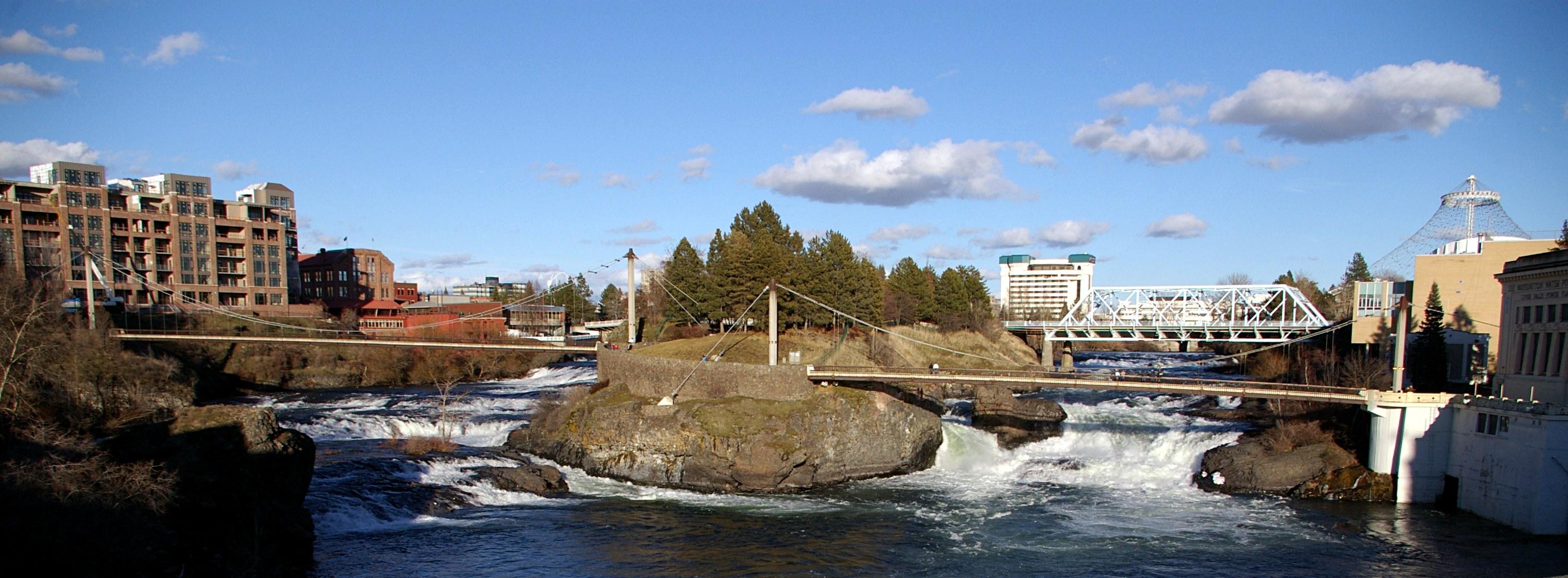 falls and monroe spokane washington spokane riverfront park 20061014 3008x1110
