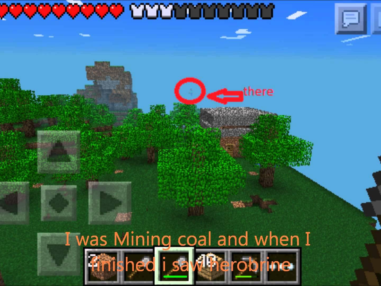 Herobrine on Minecraft Pe 1440x1080