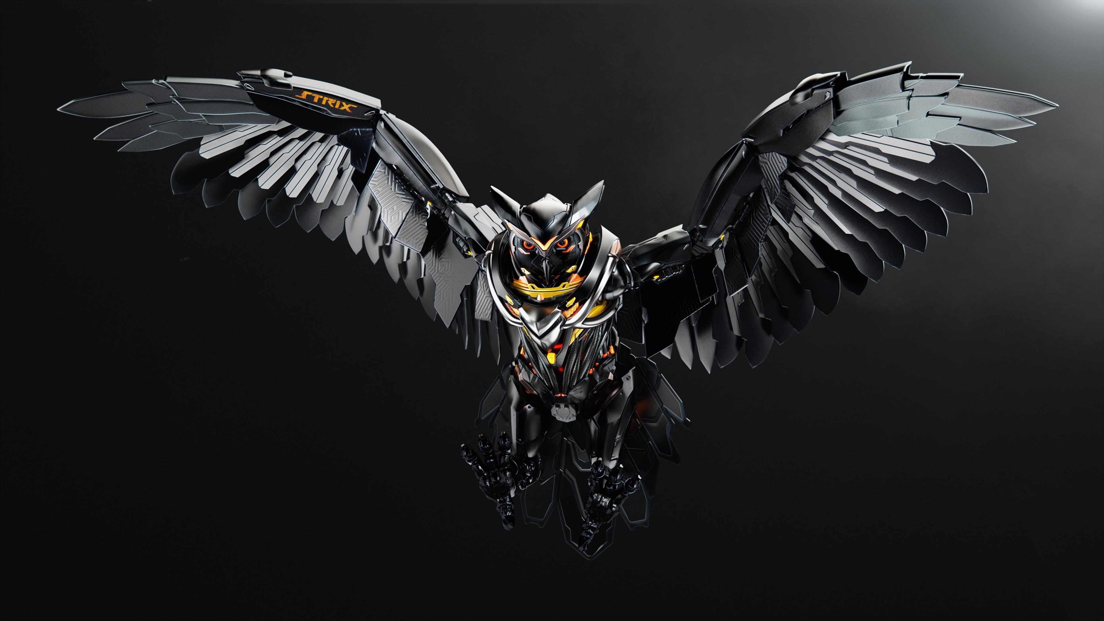 Strix Owl 4K UHD Wallpaper 3840x2161