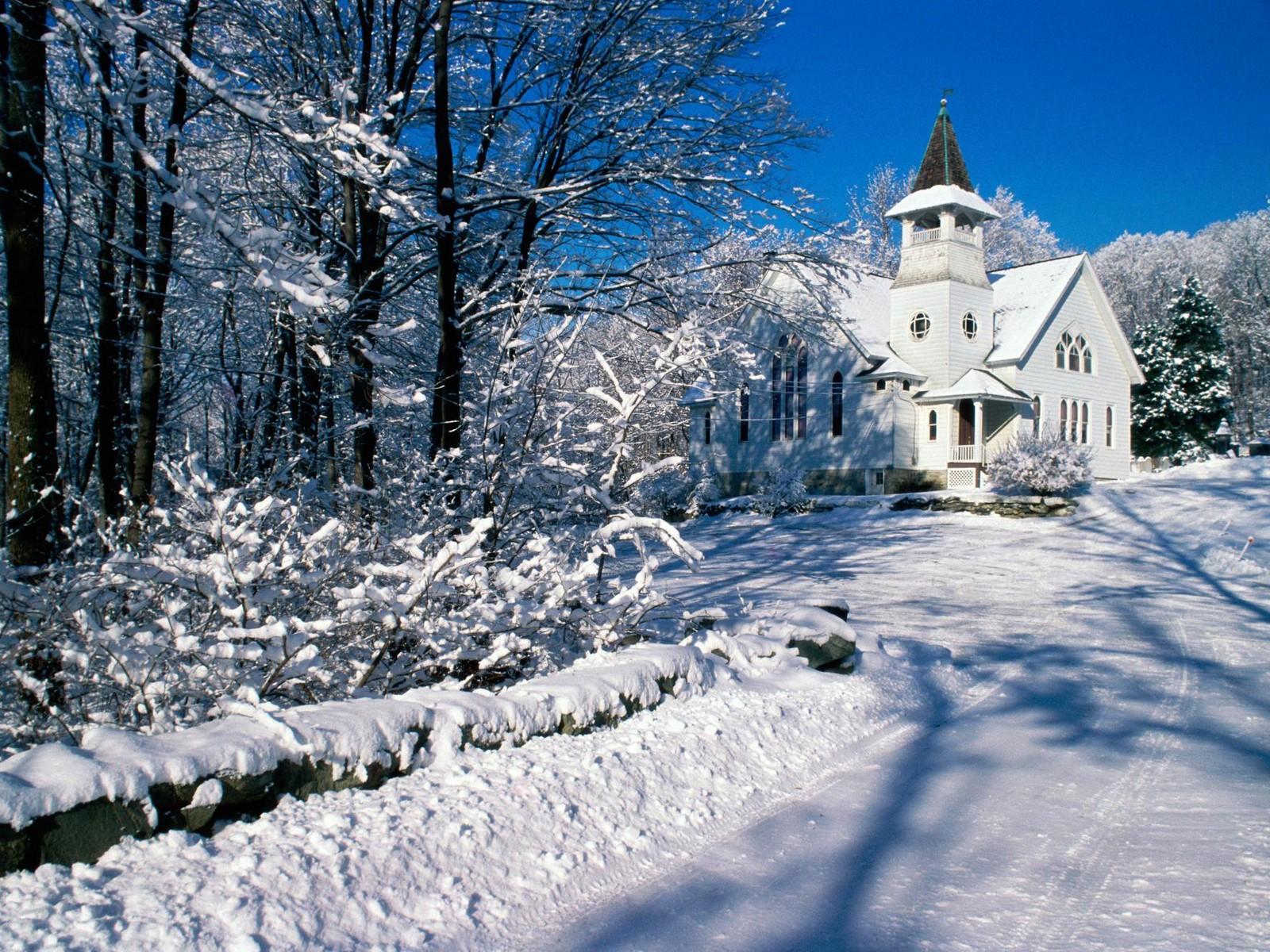 wallpaper hiver neige montagne 1600x1200