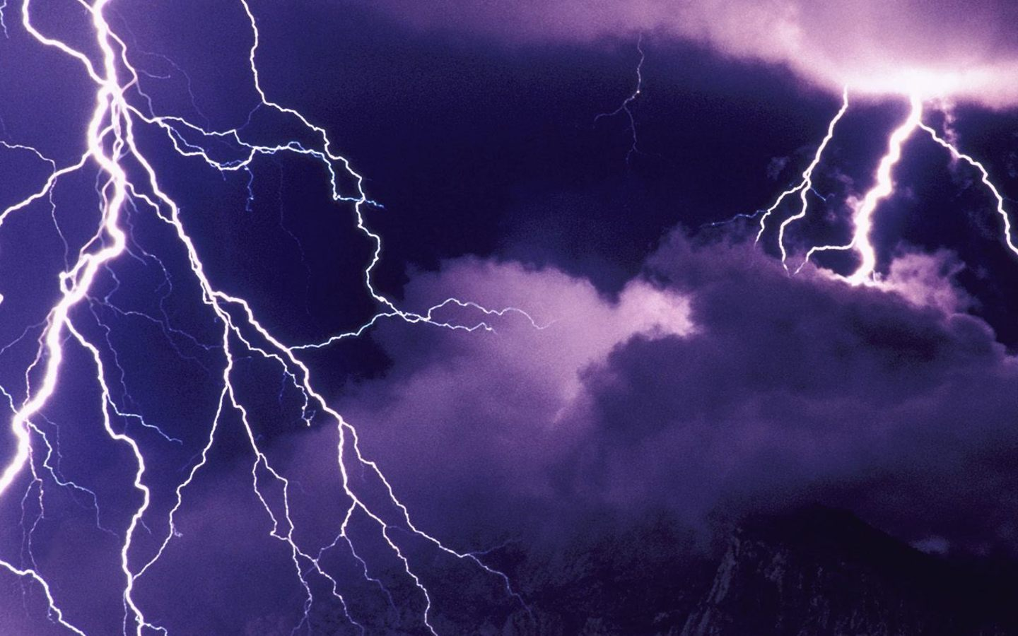 HQ Lightning Storm Wallpaper   HQ Wallpapers 1440x900