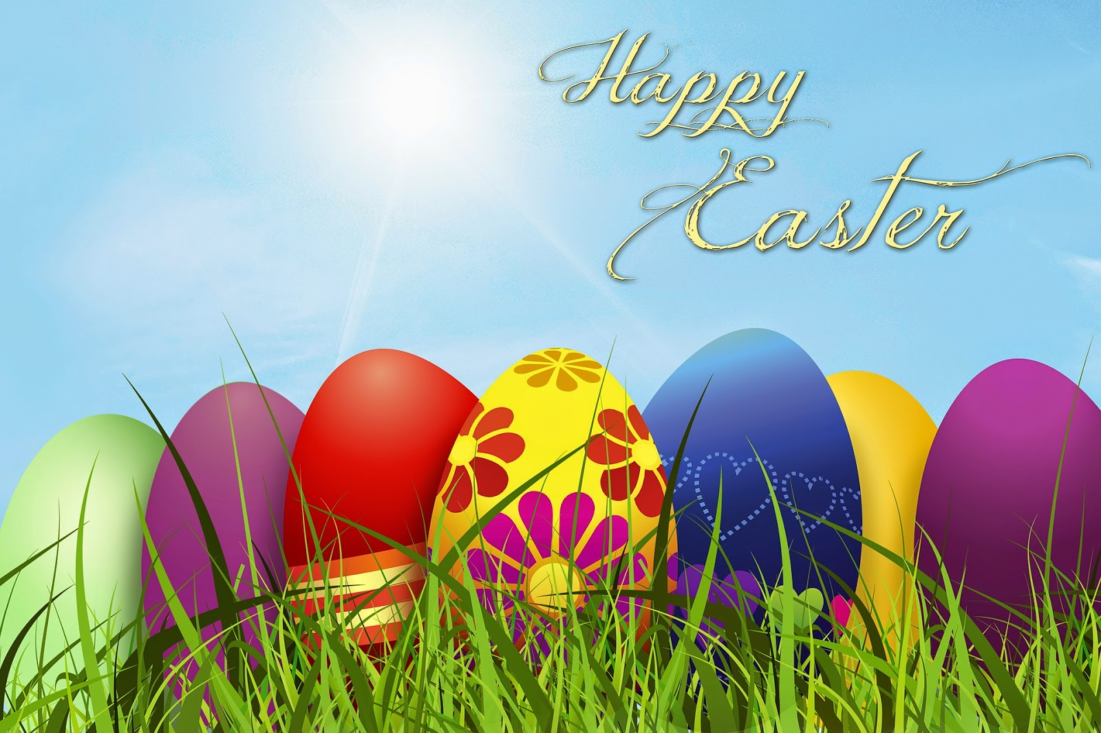 Digital photo Happy Easter jpg screen saver desktop wallpaper Easter ecard