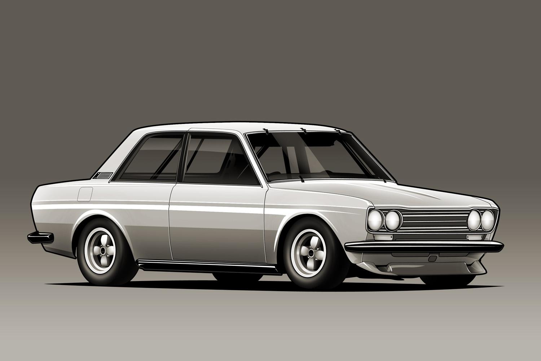 Datsun 510 by kazirules 1500x1002