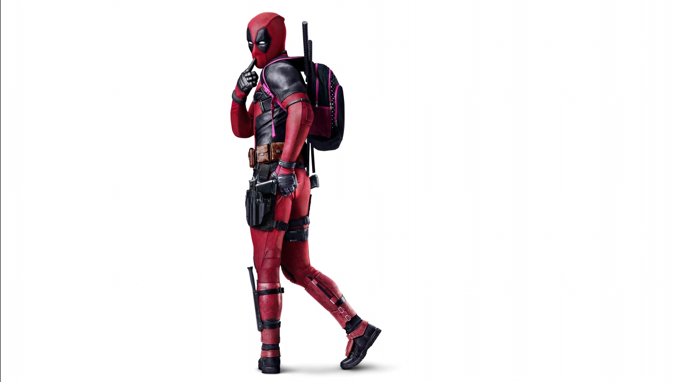 4K Deadpool Wallpaper 1366x768