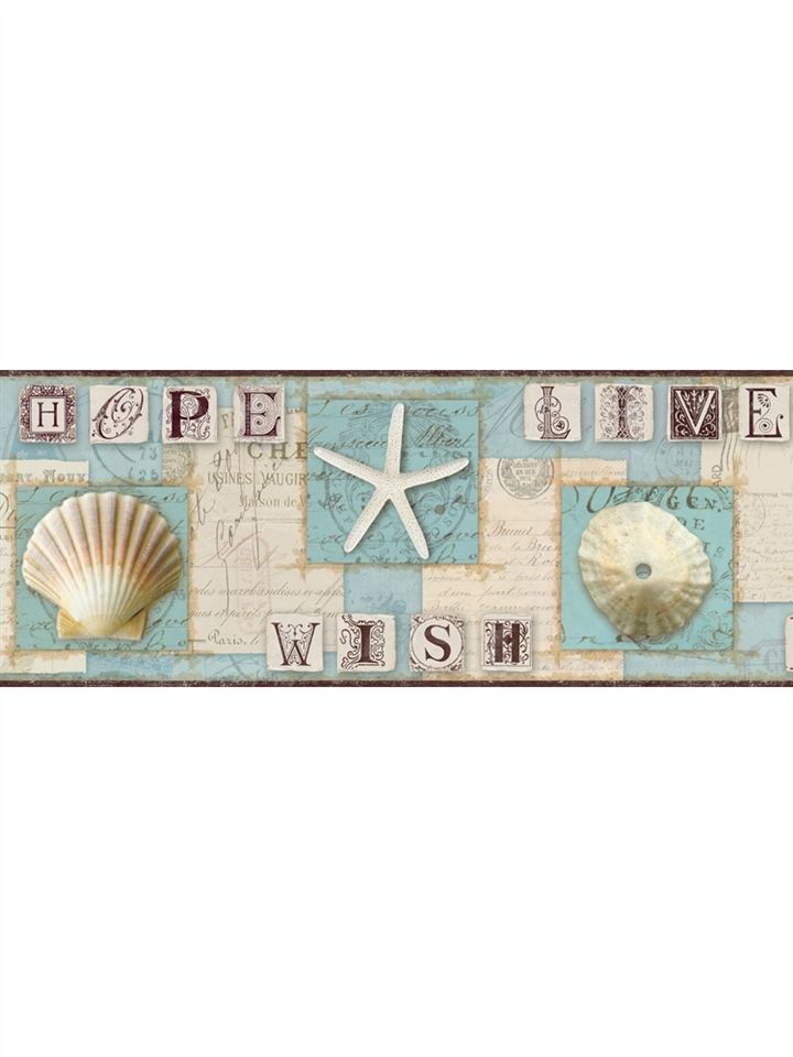 combeach journal sand dollar starfish wallpaper border green 720x960
