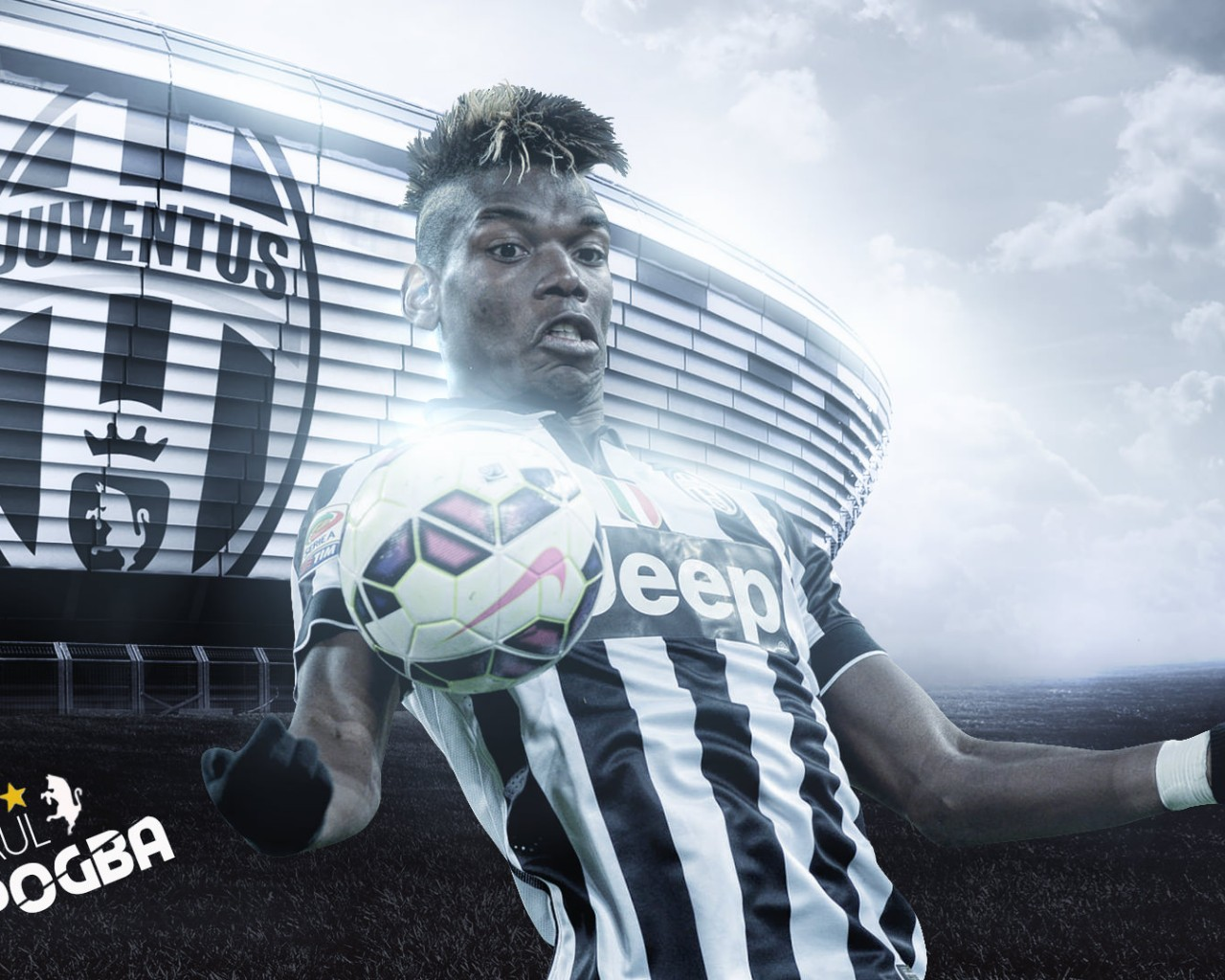 Paul Pogba Juventus 20152016 Wallpaper   Football Wallpapers HD 1280x1024
