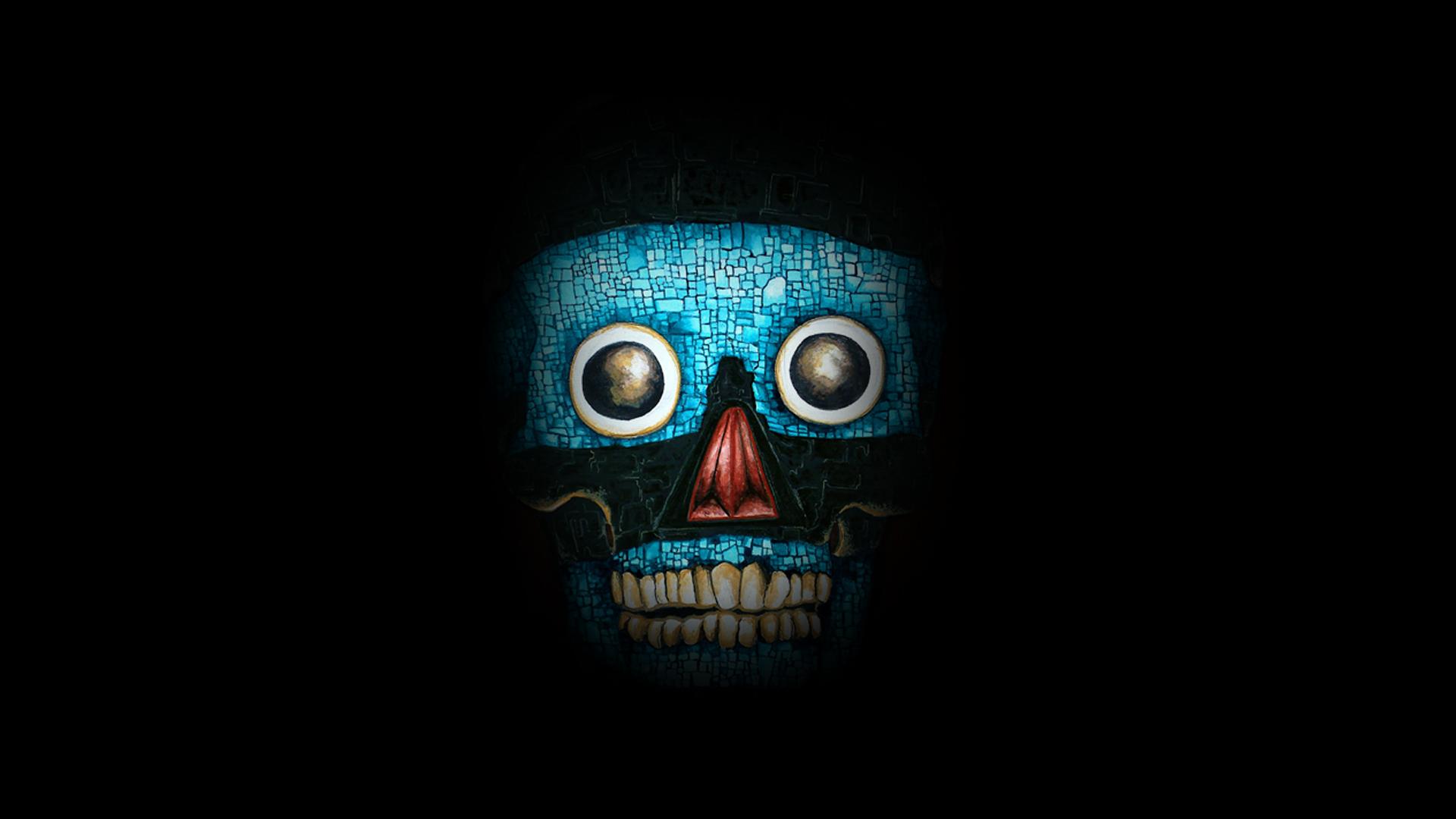 47 Blue Line Skull Wallpaper On Wallpapersafari