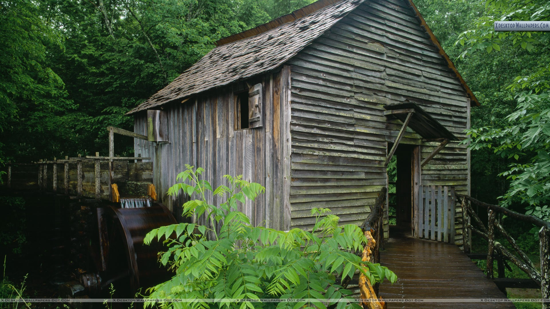 John P Cable Grist Mill Cades Cove Great Smoky Mountains Wallpaper 1920x1080
