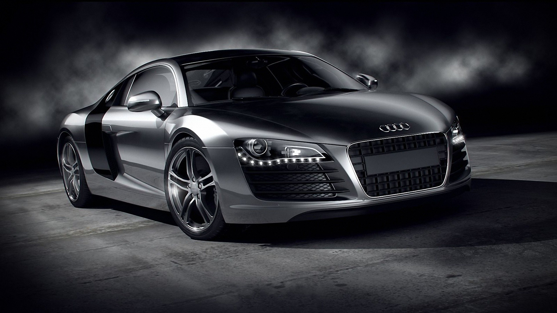 Cars Audi Wallpaper 1920x1080 Cars Audi Monochrome Audi R8 1920x1080