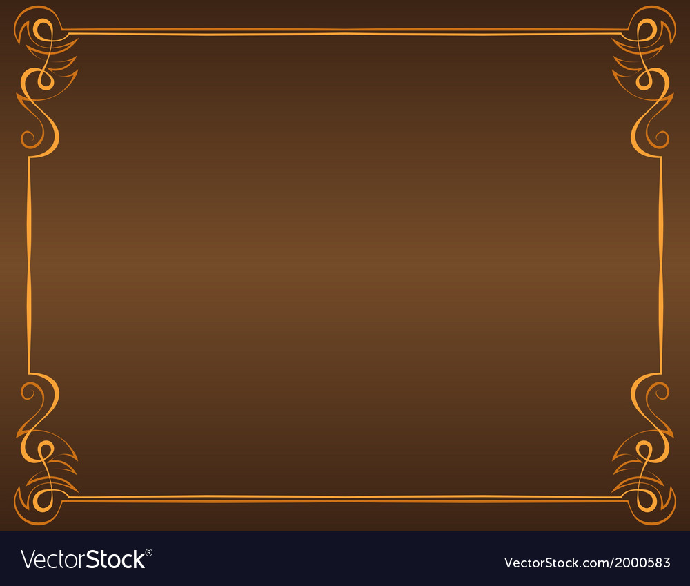 Vintage frame on a brown background Royalty Vector 1000x849