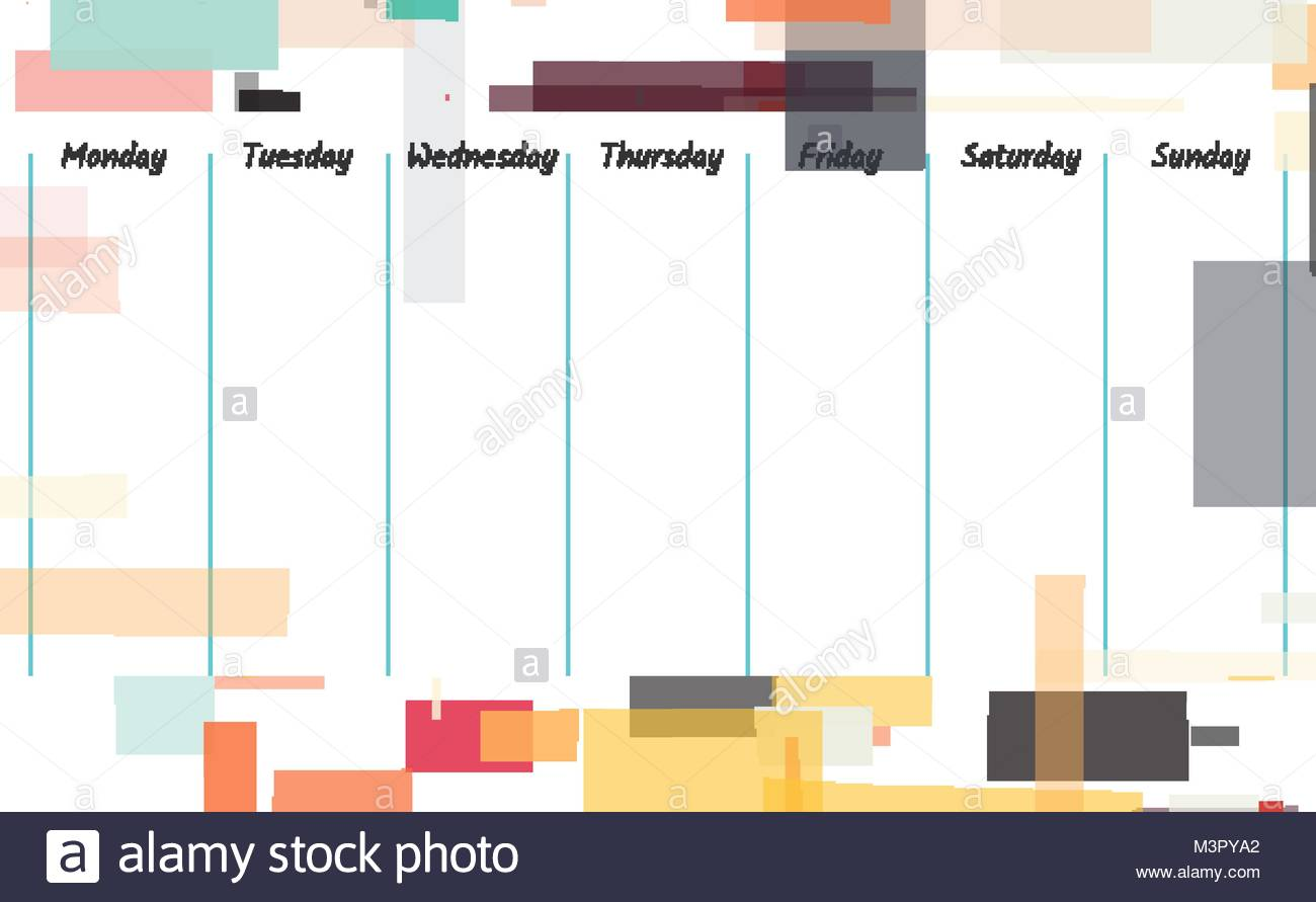 Planner template design Weekly memo background illustration Stock 1300x891