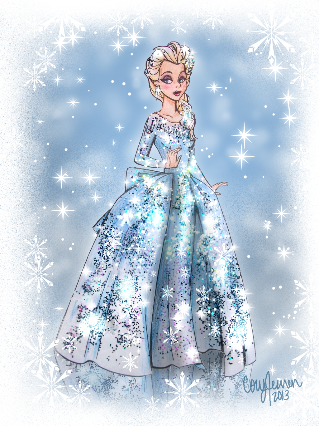 Elsa   Frozen Fan Art 34268994 1024x1365