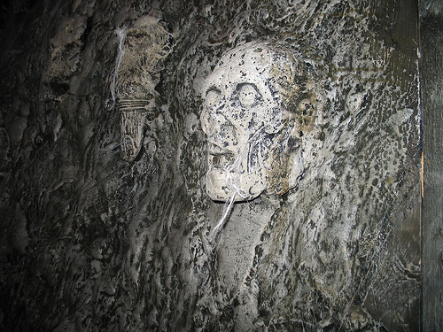 Skull Wallpaper For Walls Skull wall scares girlies 500x375