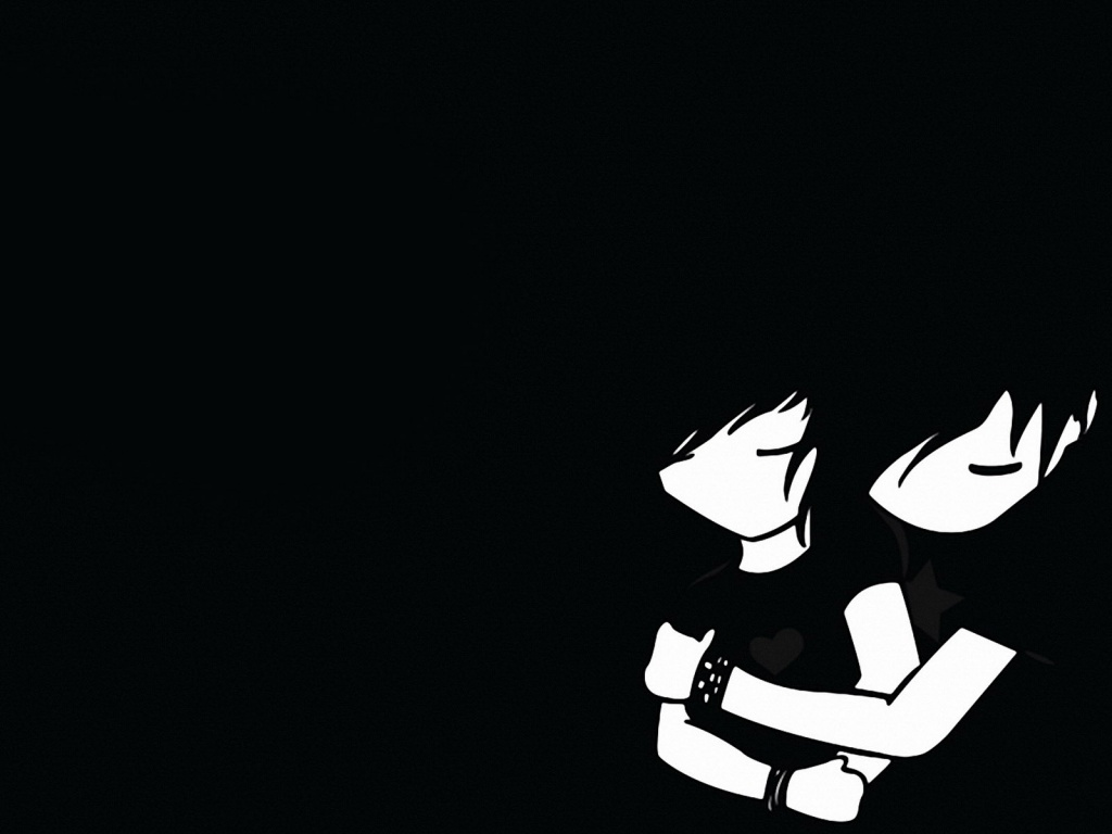 1024x768 Emo boy and girl desktop PC and Mac wallpaper 1024x768