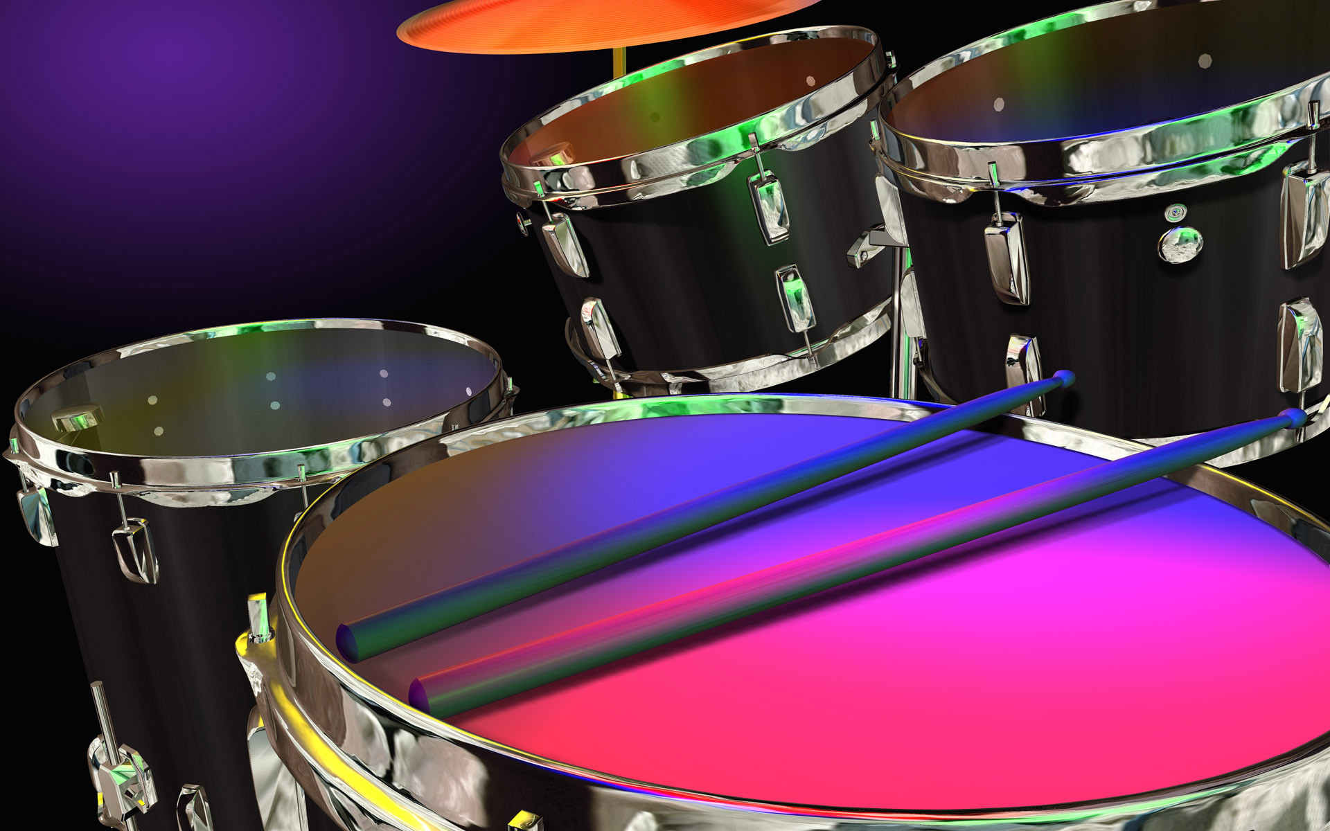 Drum Set Widescreen Computer Background 1215 1920x1200 px 1920x1200