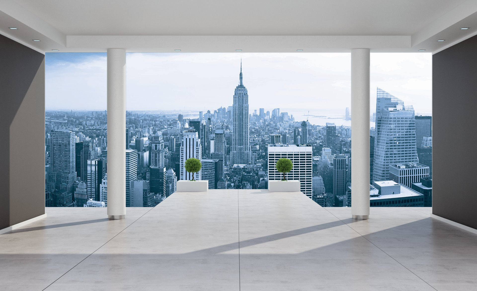New York City Skyline Urban PHOTO WALLPAPER WALL MURAL ROOM   1323P 1920x1172